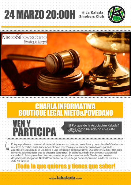 24 Marzo Charla Informativa Legal @ Asociación La Kalada