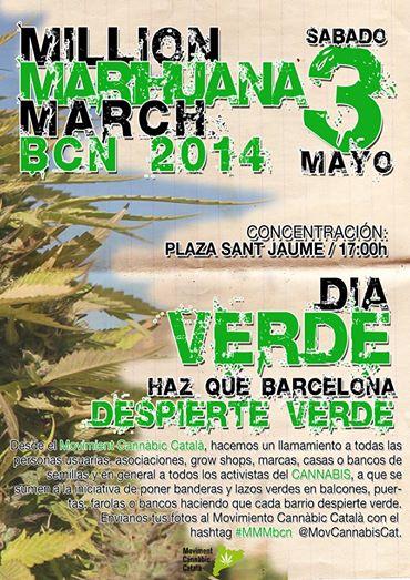 Million Marihuana March Barcelona 2014 – Diada Verda , Dia Verde , Green Day