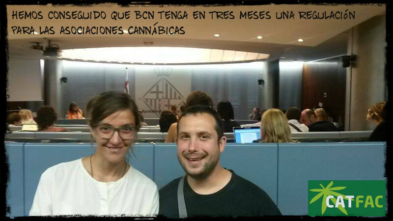 Mayoría absoluta de el ayuntamiento de Barcelona en soporte a la regulación de los Cannabis Social Club