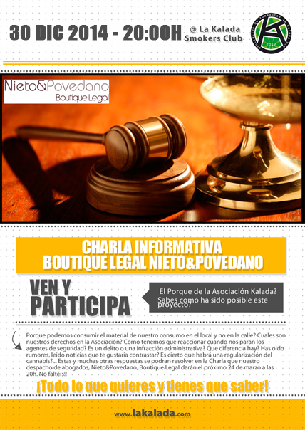 30 Diciembre 2014 Charla Informativa Legal @ Asociación La Kalada